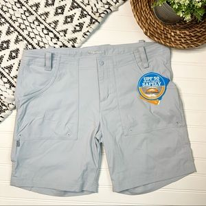COLUMBIA OMNI SHIELD Light Blue Active Shorts